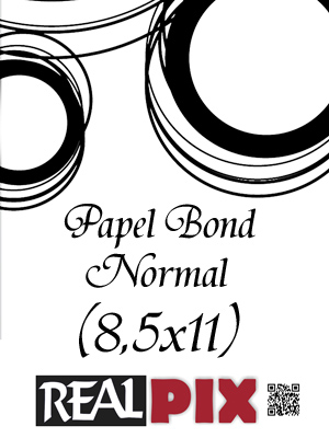 Papel Bond Normal 8,5x11 pulg