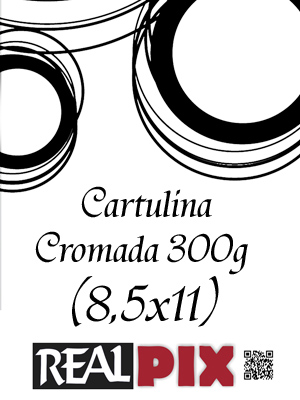 Cartulina Brillo 300g 8,5 x 11 pulg