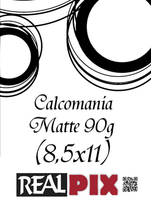 Calcomania Matte 90g 8,5 x 11 pulg