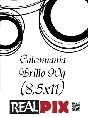 Calcomania Brillo 90g 8,5 x 11 pulg