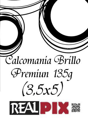 Calcomania Brillo 135g 3,5 x 5 pulg Premiun