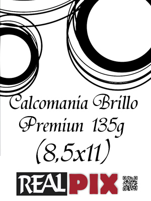 Calcomania Brillo 135g 8,5 x 11 pulg Premiun
